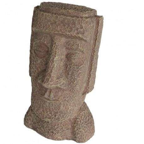 D corations asiatiques pour aquarium statue moa le de for Moai fish tank