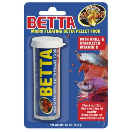 Betta Micro Floating Pellet Tube