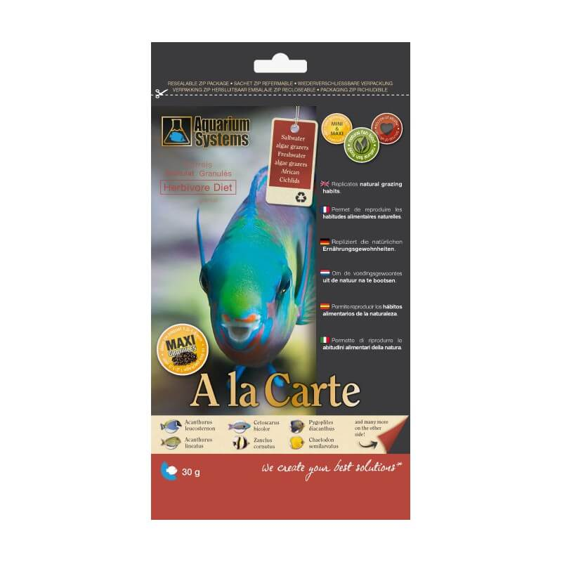 Aquarium systems nourriture a la carte herbivore diet l for Nourriture aquarium