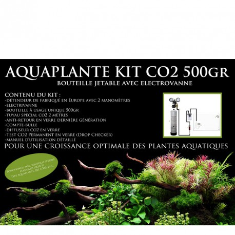 Aquaplante Kit CO2 500gr Jetable Avec Electrovanne