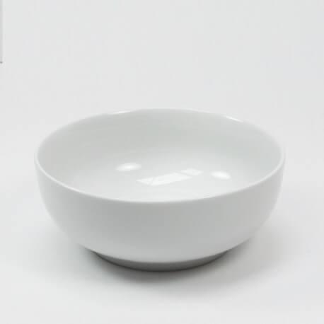 Vase rond en céramique blanche