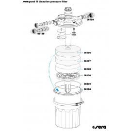 SERA pond bouchon avec ecrou-raccord et joint torique pour SERA pond fil bioactive