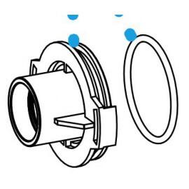 SERA pond couvercle de chambre de pompe avec joint d'etancheite pour SP 2000