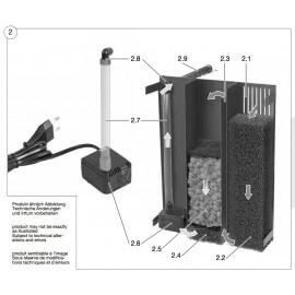 SERA eponges de filtration (1 jeu) pour Biotop Nano LED Cube 16