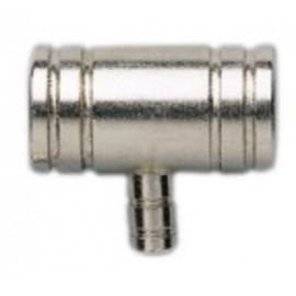 Raccord T en métal 12/16 - 4/6mm