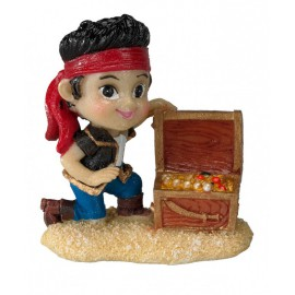 AQUA DELL BABY PIRATE -XS- GIRL&TREASURE CHEST ca.4,7x3,2x5,2cm