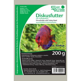 Discus food with Turkey Heart Plaque 200gr