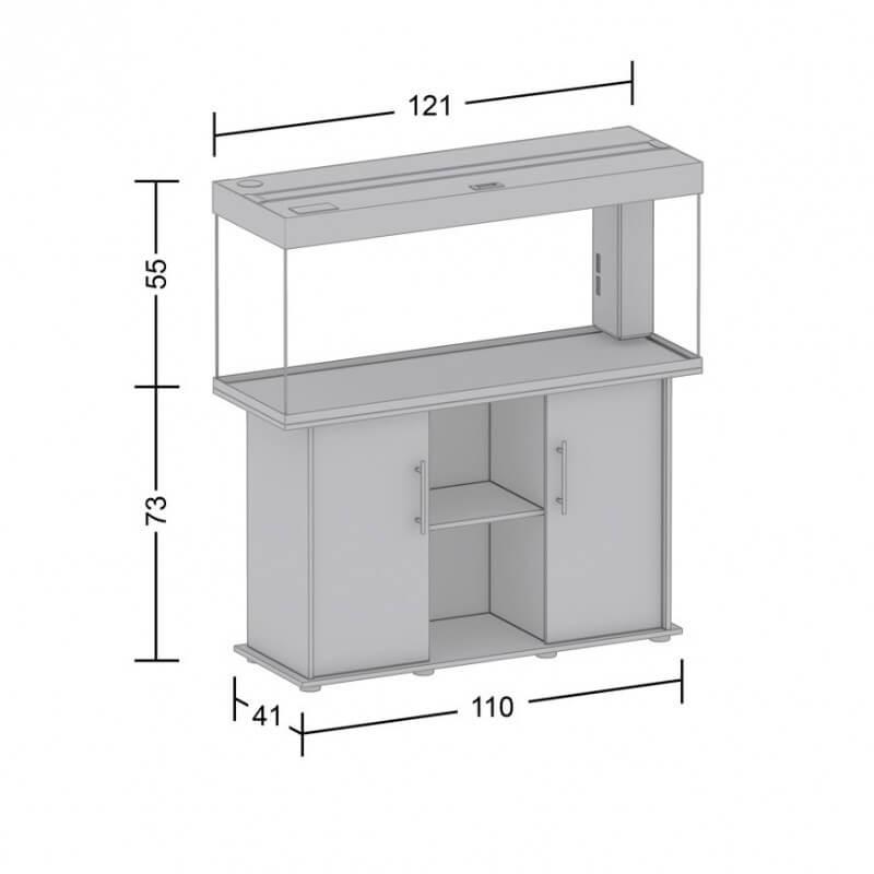 aquarium juwel rio 240 led noir. Black Bedroom Furniture Sets. Home Design Ideas