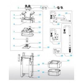 JBL cuve de Pompe pour Cristal Profi E1500