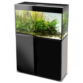 AQUAEL AQUARIUM GLOSSY LED 80 NOIR