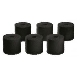 Oase Set de 6 Mousses Charbon 60ppi pré-filtre pour BioMaster 600 / Thermo 600