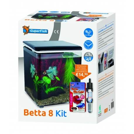 SUPERFISH BETTA 8 AQUARIUM NOIR