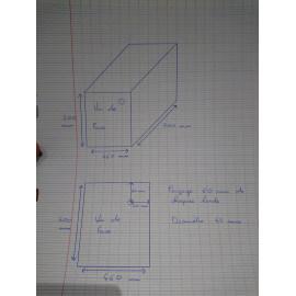 5 cuves nues 46 x 70 x 50 cm + 1 perçage