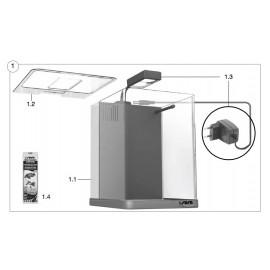 SERA Couvercle avec ouverture pour les aliments pour Biotop Nano LED Cube 16