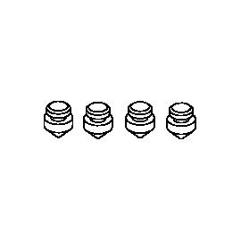 Pieds anti-vibration de rechange pour SYNCRA SDC 6.0 / 7.0 / 9.0
