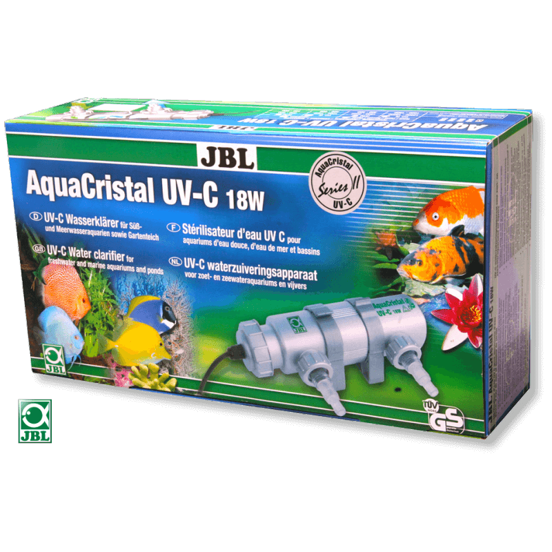St rilisateurs uv jbl aquacristal uv c pour aquarium for Aquarium bassin