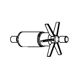 SICCE Rotor + axe céramique + caoutchoucs de rechange pour AQUA 3 1500
