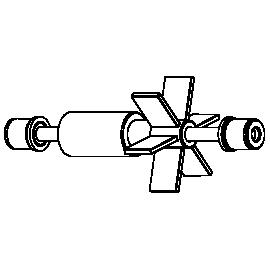 SICCE Rotor + Axe + Caoutchoucs de rechange pour Space EKO + 100