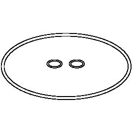 SICCE Kit de joints (Joint de tête + Joints aspiration / sortie) de rechange pour Space EKO+
