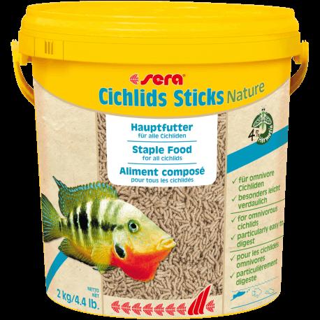 Sera Cichlids Sticks nature 10L