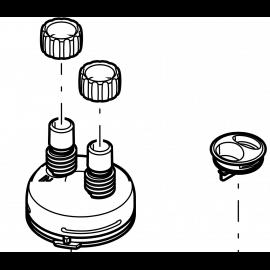 Oase Jeu d'accessoires de fixation tuyaux de rechange pour Filtosmart 200 / 300 et Thermo 200 / 300
