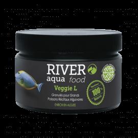 River Aqua Food Reef Veggie Pellets L 250ml