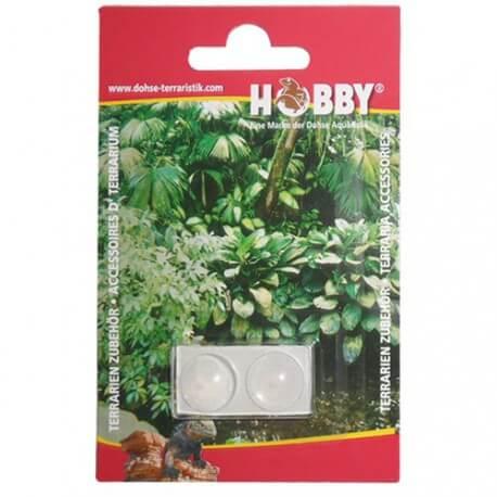 Hobby 2 Boutons de porte autocollants transparents 10mm