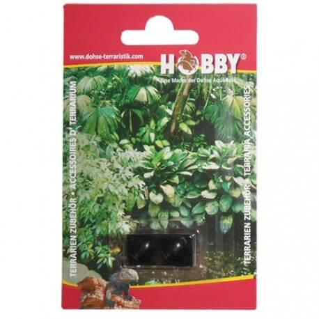 Hobby 2 Boutons de porte autocollants Noirs 10mm