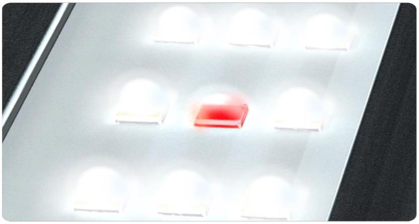LED Rouge spécifique pour la croissance des plantes d'aquarium