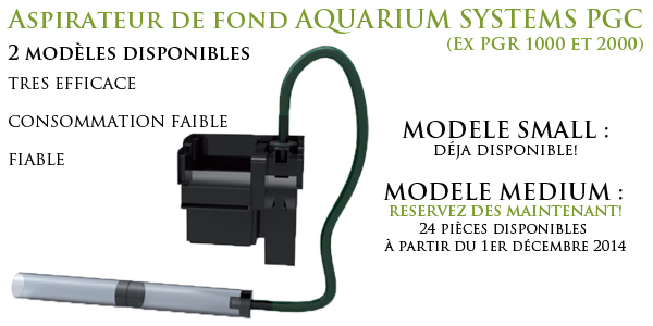Aspirateur PGR 1000 / 2000 PGC medium PGC Small Aquarium Systems disponibles sur Aquaplante.fr