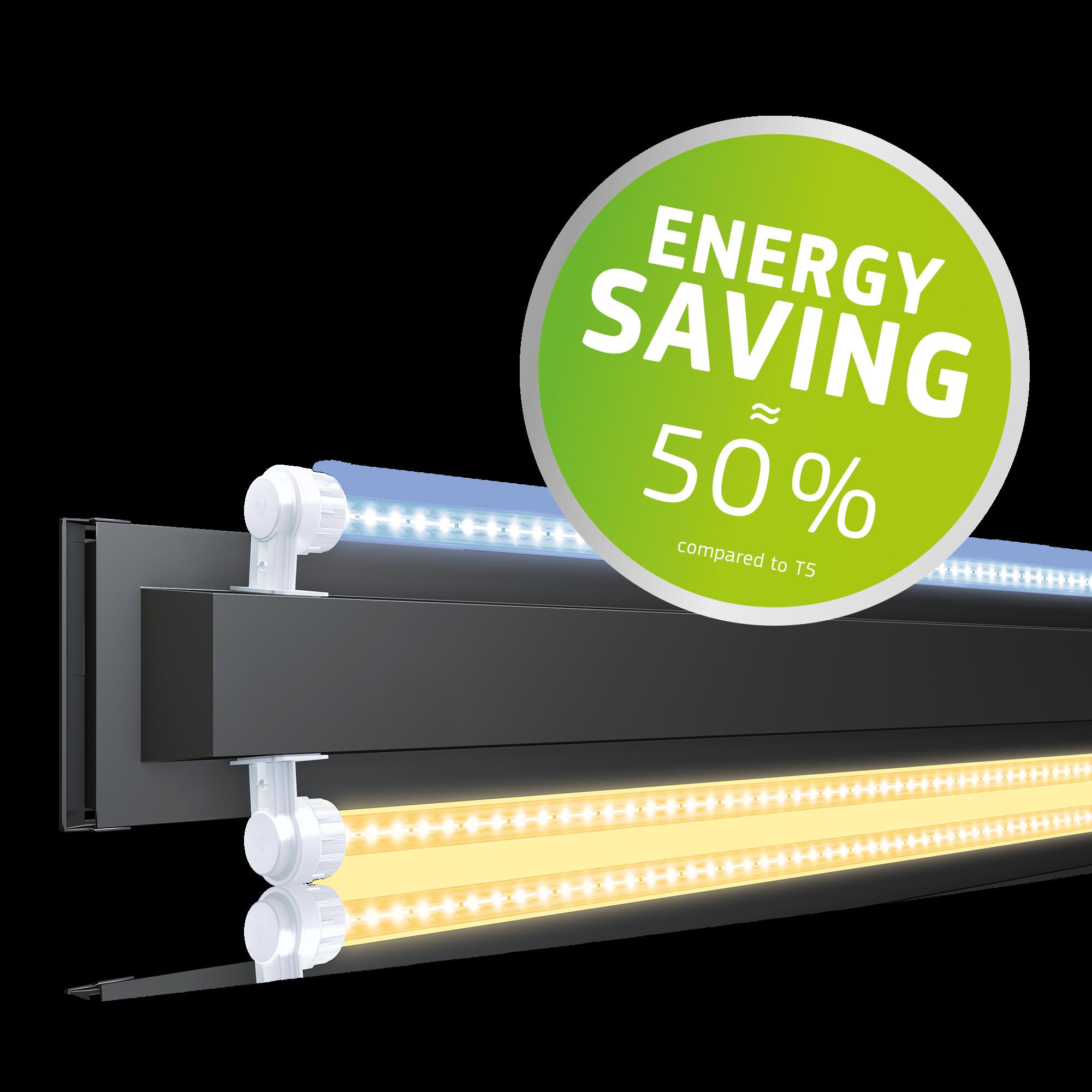 50% d'économie d'énergie par rapport à un éclairage T5